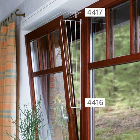 Boczna krata zabezpieczająca do okna skośna Ochrona boków okna przed ucieczką kota 62 × 16/8 cm