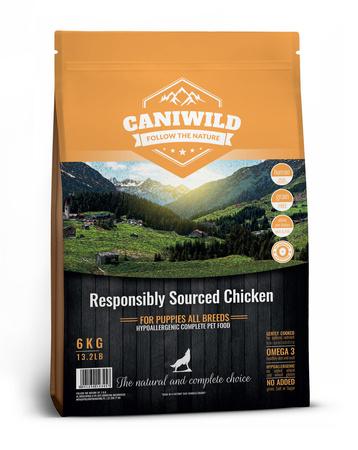 Caniwild Puppy Free run Chicken & Turkey próbka 100g Kurczak, Indyk i Łosoś