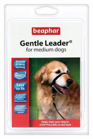 Kantar, obroża uzdowa dla psów średnich ras Holter Gentle Leader czarna