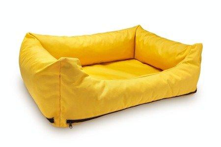 Loftowa modna kanapa, sofa - legowisko wodoodporne z wymiennymi pokrowcami XL żółte