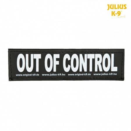 Naszywka OUT OF CONTROL na rzep do szelek Julius-K9® L 2 sztuki