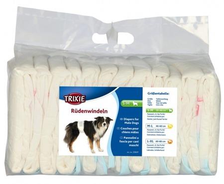 Pieluchy dla psów samców S-M 12 szt