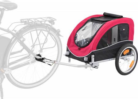 Przyczepka rowerowa dla psa Przyczepa rowerowa M czerwona